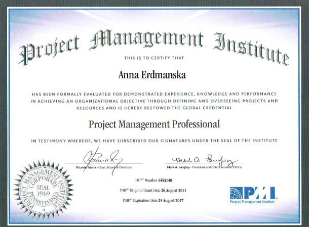 certyfikat PMI 2014-2017-1